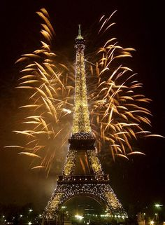 Fireworks illuminate the Eiffel Tower for millennium celebrations in Paris, Jan. 1, 2000 file photo. - Yep, I was there!