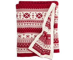 This fair isle blanket from HomeSense is part of the Sweet Charity collection