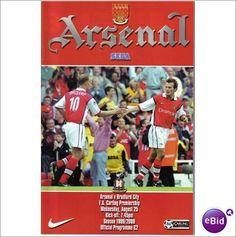 Arsenal v Bradford City 25.08.1999 Premiership Football Programme Sale