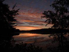 First Light Holy Bay Lake Minocqua July 2 2016 by Ken Groezinger