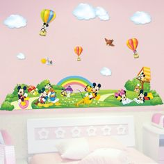 Cheap sticker decor, Buy Quality sticker decals for cars directly from China sticker giant Suppliers:        Mickey Minnie Mouse family wall vinyl sticker baby kids room poster wallpaper wall decal art stickers adhes