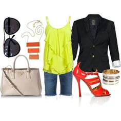 Lime, Navy, Red