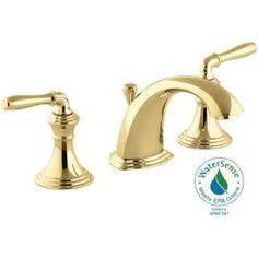 KOHLER, Devonshire 8 in. Widespread 2-Handle Low-Arc Bathroom Faucet in Vibrant Polished Brass, K-394-4-PB at The Home Depot - Tablet