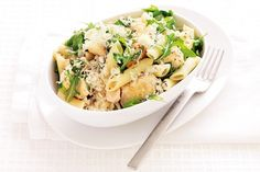 Enjoy a simple and delicious chicken penne infused with chilli and peppery rocket.