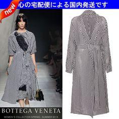 日本未入荷☆ギンガムチェック コート☆ボッテガヴェネタ