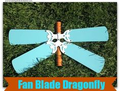 How to Build a Garden Dragonfly using Repurposed Fan Blades