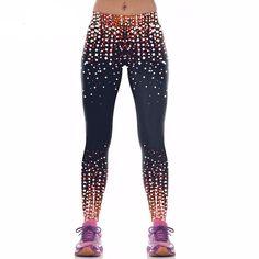 b6e0fbfaf3164 Starry Sky, 3D Printed, Compression Leggings Printed Leggings, Women's  Leggings, Sports Leggings