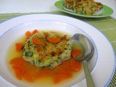 Bärlauch-Kaspressknödel auf babyspeck.at . 2 in 1 Babyrezept als Hauptspeise oder Suppeneinlage. Baby led weaning Rezept für Kaspressknödel. Für BLW-Anfänger