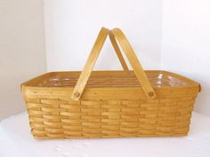 Vintage Longaberger Gathering Basket Large by ThePassionateFlea