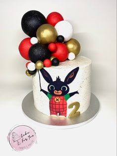 Bing Cake, Bing Bunny, Boys 1st Birthday Cake, Bunny Party, Cute Cakes, Cake Smash, Birthday Party Decorations, Cake Designs, Fondant