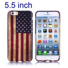 iPhone 6 Plus (5.5 inch) USA Vlag TPU Cover, hoesje, case
