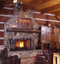 rock fireplace images | Stone Fireplace Designs Pictures...