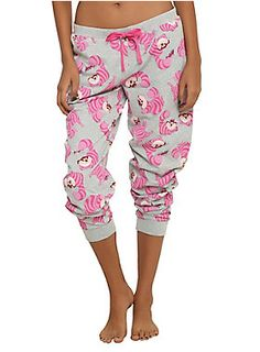 <p>Comfy girls pajama pants from Disney's <i>Alice in Wonderland</i> with allover Cheshire Cat print design and an elastic drawstring waist.</p>  <ul> 	<li>60% cotton; 40% polyester</li> 	<li>Wash cold; dry low</li> 	<li>Imported</li> 	<li>Listed in junior sizes</li> </ul>