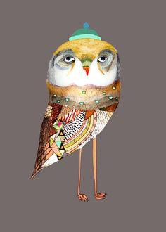 Owl Decor for Kids. The Night Owl. - Decor for Kids rooms| Nursery Wall Art| Children's Art Prints| Kids Wall Decor| Owl art and Decor|
