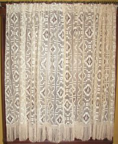 One Of A Kind Antique Victorian Lace Curtains Vintage French