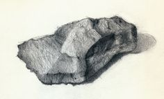 """""""Drawing of a Rock, still life"""", Pencil on Strathmore Windpower Drawing paper, 3 x 6 in. x cm) Drawing of a Rock, still life Realistic Drawings, Art Drawings, Be Still, Still Life, Landscape Pencil Drawings, Fine Art Drawing, Social Art, Natural Forms, Graphite"""