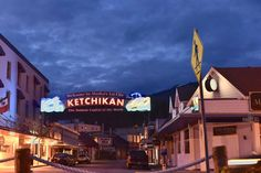 The gorgeous Welcome to Ketchikan sign captured on the of July before the Fireworks show! Thank you Connor Mulvaney! Alaskan Homes, Fireworks Show, 4th Of July, Sign, Places, Happy, Independence Day, Signs, Ser Feliz