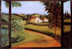 Wall Murals Tuscan Scenes | Mural for Wine Cellar