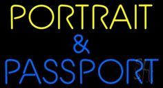 Portrait And Passport Neon Sign