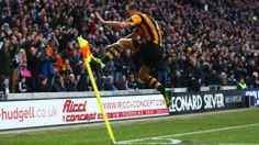 David Meyler of Hull City celebrates scoring his team's second goal during the Barclays Premier League match between Hull City and Liverpool at KC Stadium on December 1, 2013 in Hull, England. (Photo by Matthew Lewis/Getty Images)