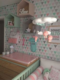 kids room decor ideas by tissue paper Ikea Kids Room, Kids Room Paint, Kids Bedroom, Kids Rooms, Baby Nursery Furniture, Kids Room Furniture, Baby Room Colors, Baby Room Decor, Room Baby