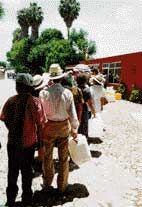 Healing Waters of Tlacote, Mexico: in this small town people line up to visit Jesus Chahin's well that is reputed to have miraculous healing powers. The famous water is said to have cured everything from AIDS and cancer to obesity and high cholesterol. Since 1991 millions of people have been to Tlacote, as far away as Europe and Russia, to be healed. The ranch owner, Chahin, has kept a register of each visitor since he opened the well to the public. As many as 5,000-10,000 people a day has come.