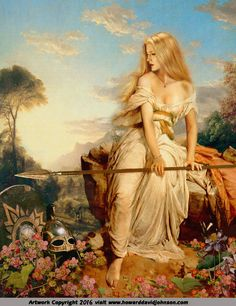 Pre-Raphaelite Art; Contemporary Symbolist Art influenced by the Pre-Raphaelite Brotherhood in a variety of mixed media by Howard David Johnson.