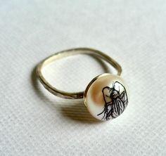 Cockroach Pearl Ring. Georgina Taylor