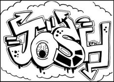 Learn to draw graffiti names JOSH. Just click on Free Drawing Lessons! tons of links-face jug-Romare etc.