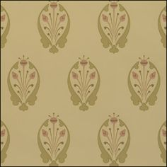 """Mason & Wolf Wallpaper, Somerset. Inspired by late 1800s designs by Dr. Christopher Dresser. $57/roll. 27""""wide; 10-5/8"""" repeat."""