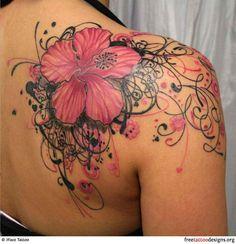 Flower tattoo shoulder