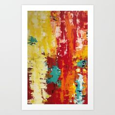 Abstract B1 Art Print by sophie_lemieux | Society6