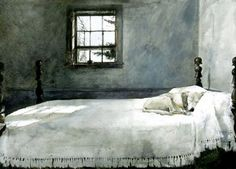 andrew wyeth master bedroom 1965 american realism