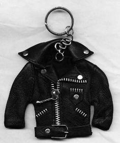 Motorcycle-Hot-Rod-Operating-Leather-Jacket-Key-Chain