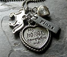 Personalized Handstamped Horse by EquineExpressionsbyD on Etsy, $36.00