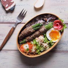 お弁当アート~日本のお弁当文化~ : 画像 Work Lunch Box, Bento Box Lunch, Bento Recipes, Cooking Recipes, Healthy Recipes, No Cook Meals, Kids Meals, Japanese Lunch, Japanese Food