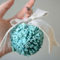Fabric ball ornaments.