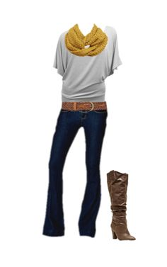 Luxquisites Outfit of the Day: absolutely loving this look! We have paired our Yoga Jeans with a Gimono top and box weave mustard scarf. Add our Madge boots to complete the look!
