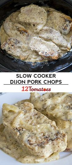 Slow Cooker Dijon Pork Chops And Potatoes