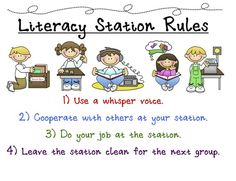 literacy station rules