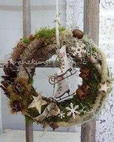 ♥Wintermärchen♥ NATUR Türkranz Weihnachten SHABBY von ♥♥ kranzkunst ♥♥ auf DaWanda.com
