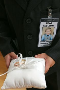 Ring Security Badge #ringsecurity #blingsecurity #bridesecurity #ringdude #ringbearer #vowsecurity