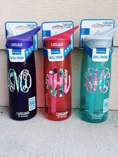 Lilly Pulitzer Camelbak Monogram Water Bottle by PrettyLettersShop Preppy Girl, Preppy Style, My Style, Monogram Water Bottle, Prep Life, Pink Patterns, Christmas Wishes, Christmas 2017, Christmas Ideas