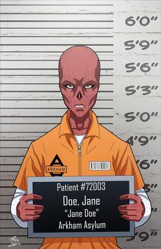 Jane Doe locked up by phil-cho on DeviantArt Batman Universe, Dc Universe, Dc World, Person Drawing, Hq Dc, Comic Villains, Arkham Asylum, Dc Movies, Joker And Harley Quinn
