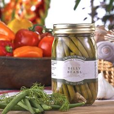 s there anything more refreshing than snappy string beans? Yes!  Experience these crisp, lightly dilled string beans with just enough vinegar & spice to keep you reaching for another…and another…and still another. #Dillybeans