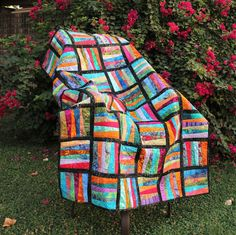 Zig Zag Batik Lap Quilt A little bright, a little suble, lots of pattern and design - and all marvelous batiks!