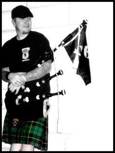 Scruffy Wallace, of the Dropkick Murphys-- by pitbullsmiles.deviantart.com on @DeviantArt #bagpipers #kilts #DropkickMurphys Dropkick Murphys, Men In Kilts, Love Band, Highlanders, One Drop, Celtic Designs, Revenge, Hard Rock, Singers