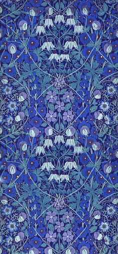 Morris had a profound influence on the aesthetic style of the Art Nouveau movement (another style I luuuurve). Deco Floral, Motif Floral, Art Nouveau, Fabric Wallpaper, Of Wallpaper, Textile Patterns, Print Patterns, Textiles, William Morris Art