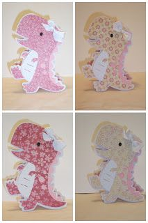 """My Paper Trail: Create-a-Critter Dino """"Cricut"""" cards how to Kids Cards, Baby Cards, Fun Cards, Create A Critter, Card Making Templates, Baby Shower Invitaciones, Paper Crafts, Diy Crafts, Shaped Cards"""