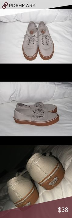 Vans Shoe Vans barely worn and in great condition! They don't really fit my feet so there's no point in keeping them! Size 10.5 in women and size 9.0 in men Vans Shoes Sneakers